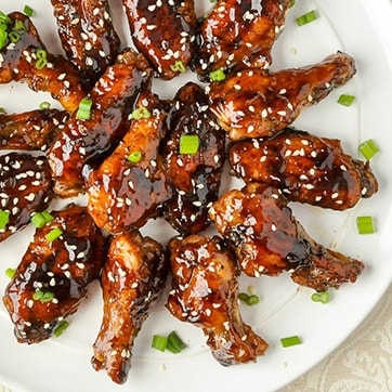 CHICKEN WINGS WITH TERIYAKI SAUCE