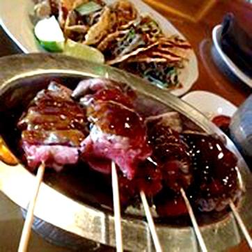 CHO CHO BEEF WITH BBQ SAUCE