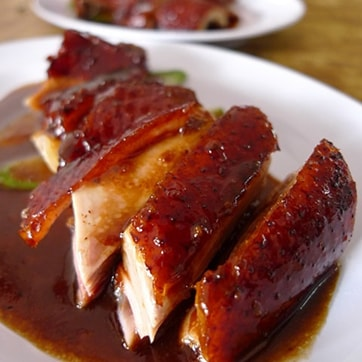 CRISPY DUCK WITH BBQ SAUCE