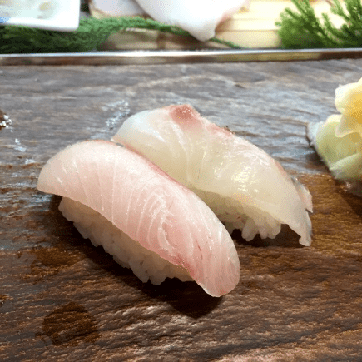 NIGIRI WITH SEA BASS