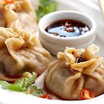 PORK DUMPLINGS WITH SOYA SAUCE