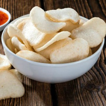 PRAWN CRACKERS WITH SWEET & SOUR SAUCE