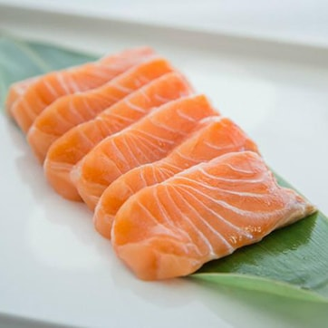 SASHIMI WITH SALMON