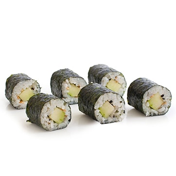 MAKI ROLLS WITH SEA BASS AND CUCUMBER