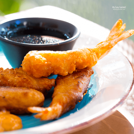 TEMPURA SHRIMPS WITH SWEET AND SOUR SAUCE
