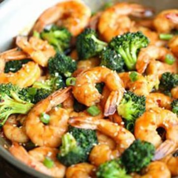 SHRIMPS WITH BROCCOLI