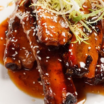 CANTONESE SPARE RIBS WITH BBQ SAUCE