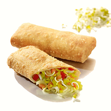 VEGETABLE SPRING ROLLS WITH SWEETAND SOUR SAUCE